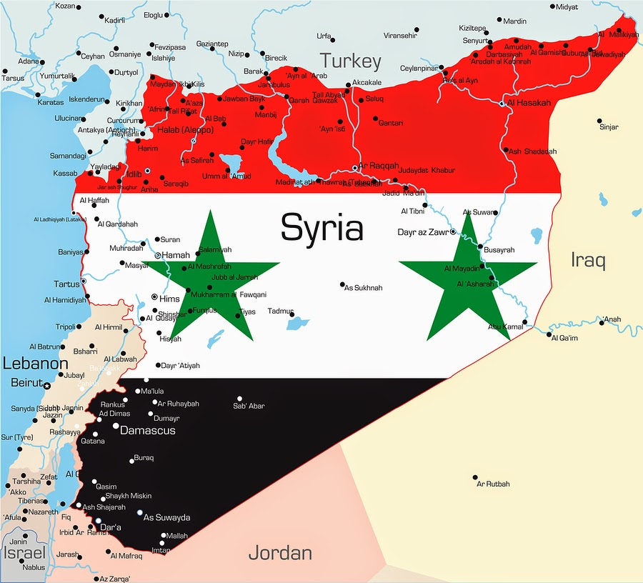 Syria-Map-Flag-and-Borders