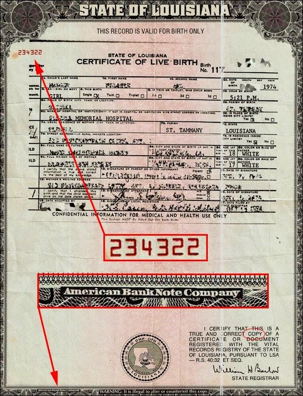 State-Of-Louisiana-Birth-Certificate