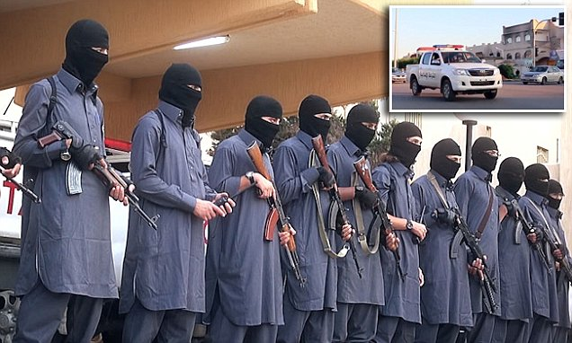 ISIS show off their police force in Libya.