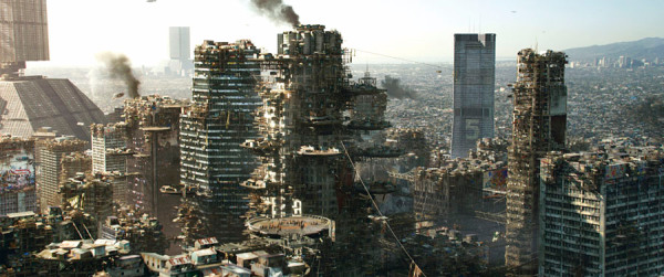 Earth Cityscape from TriStar Pictures' ELYSIUM.