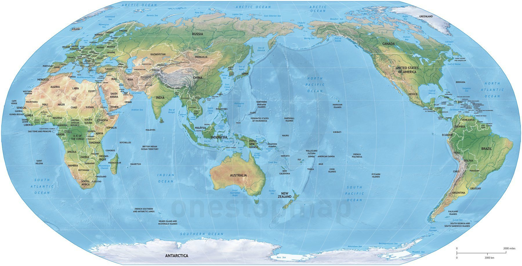 карта мир Австралия map world Australia  № 3018650 загрузить