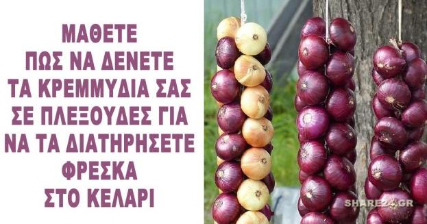 Πως θα Φτιάξετε Πλεξούδες τα Κρεμμύδια και τα Σκόρδα Σας για να τα Διατηρήσετε στο Κελάρι