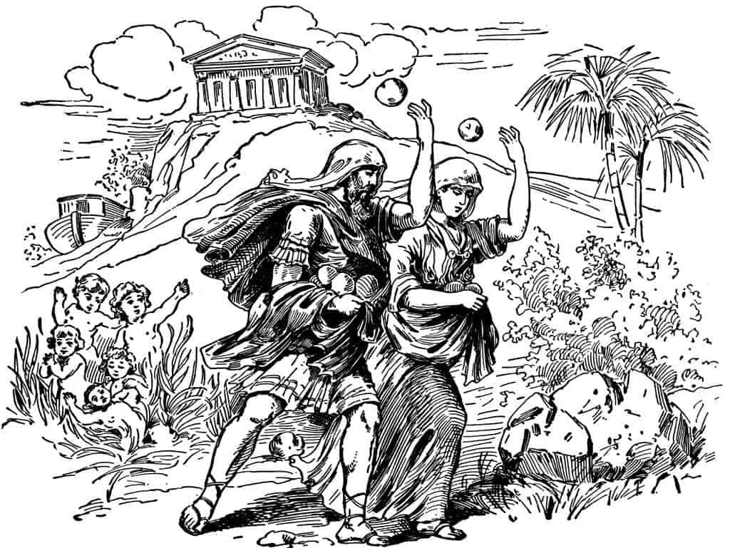 Αποτέλεσμα εικόνας για Δευκαλίωνας και η Πύρρα