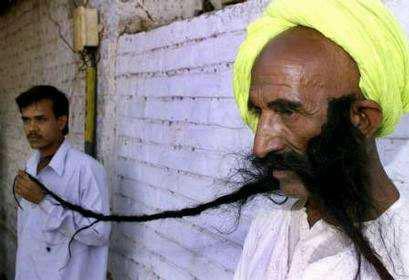 Longest moustache Photoshop Picture