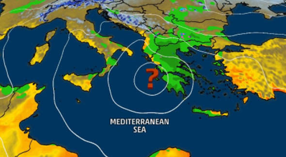 Southern italy and Greece could be hit by the medicane