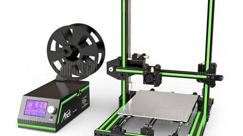Anet E10 Aluminum Frame Multi-language 3D Printer DIY Kit - GREEN EU