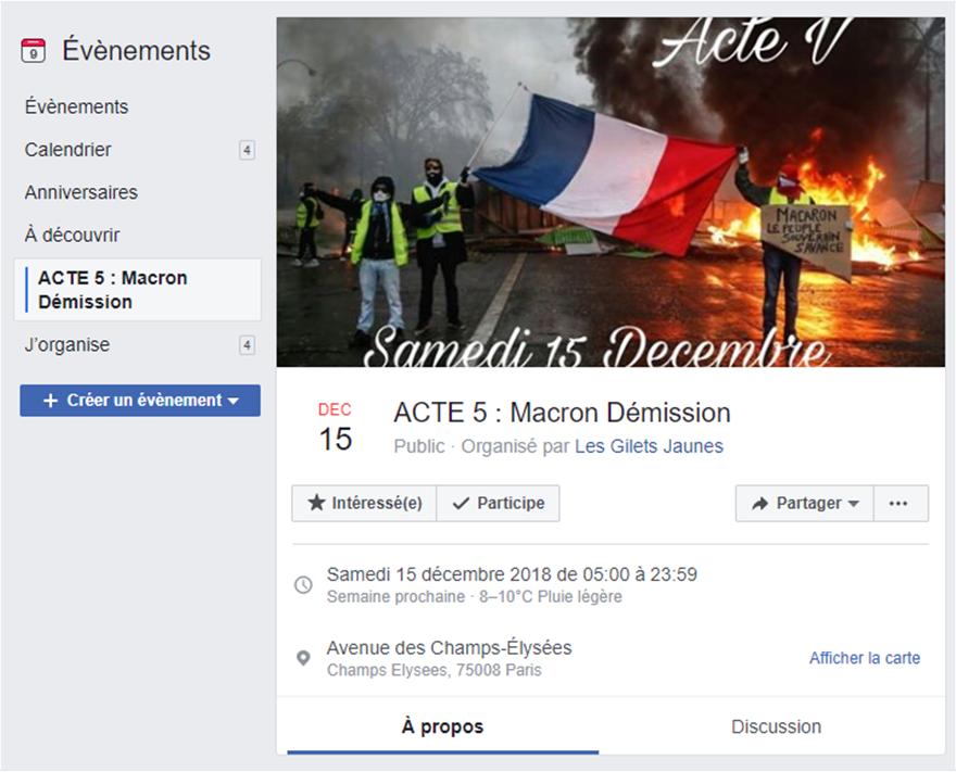 «Κίτρινα γιλέκα»: Προσκλητήριο για την «τελική επίθεση» το Σάββατο 15 Δεκεμβρίου