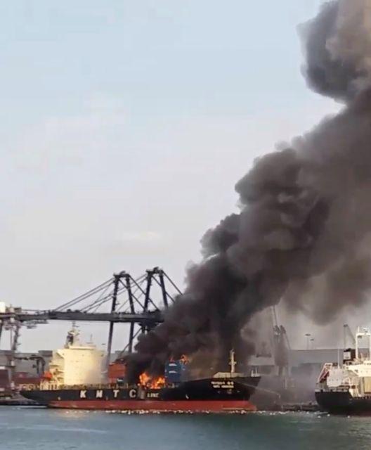 Ταϊλάνδη-Δεκάδες άτομα στο νοσοκομείο από φωτιά σε πλοίο με χημικά